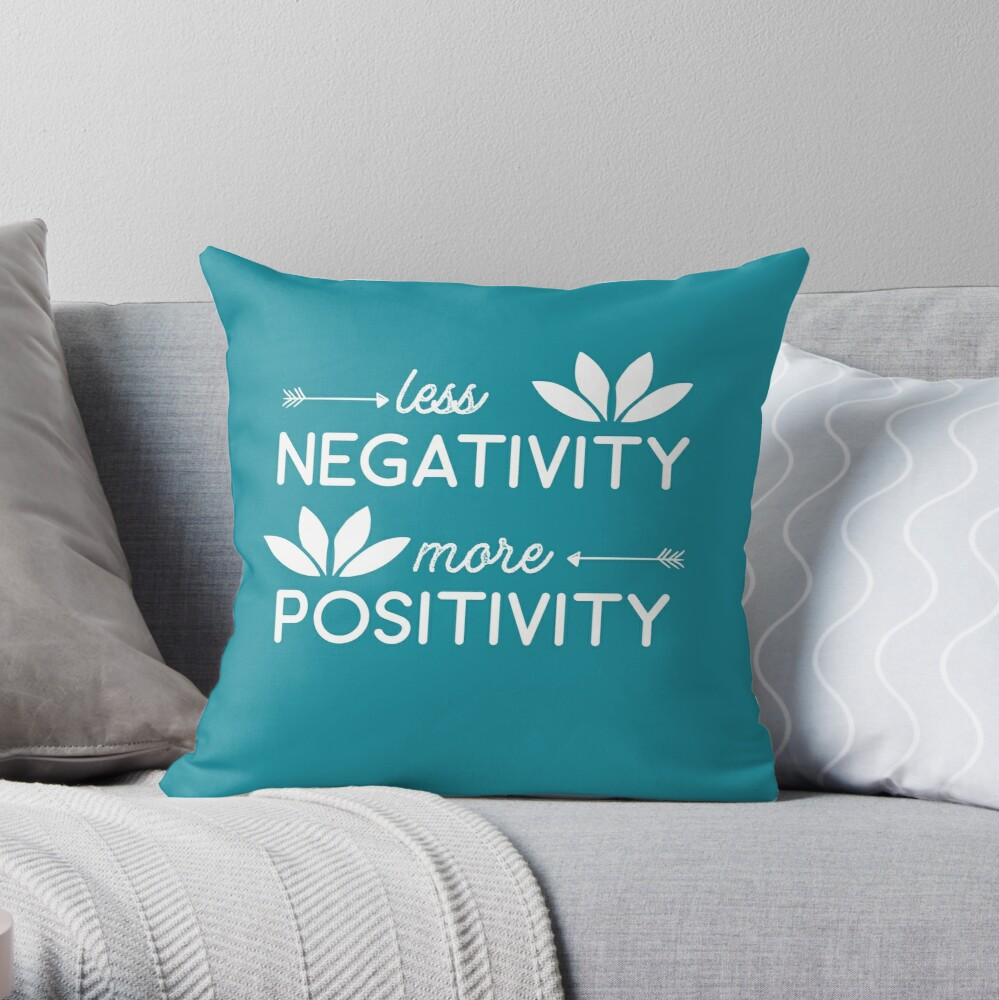 Lotus Flower Yoga Meditation Om Namaste shirt Positivity Throw Pillow