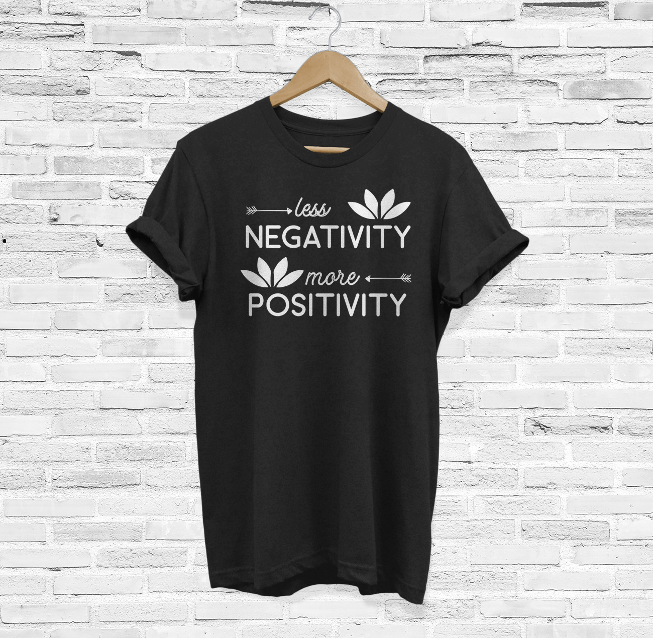 Lotus Flower Yoga Meditation Om Namaste shirt Positivity T-Shirt